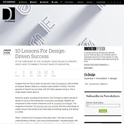 10 Lessons For Design-Driven Success