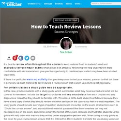 How to Teach Review Lessons: Success Strategies