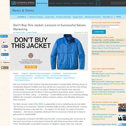 Don't Buy This Jacket: Lessons in Successful Values Marketing