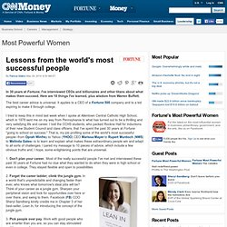 Lessons from the world's most successful people