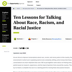 Eight Lessons for Talking About Race, Racism, and Racial Justice