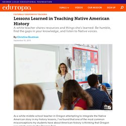 Lessons Learned in Teaching Native American History