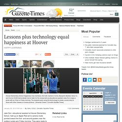 Lessons plus technology equal happiness at Hoover