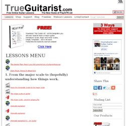 TrueGuitarist.com - Free Video Guitar Lessons