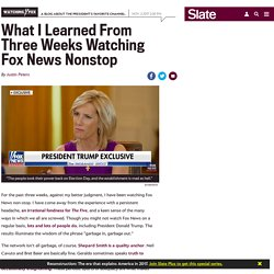 The lessons of watching Fox News for three weeks nonstop.