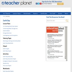Teacher Planet Earth Day Theme Page
