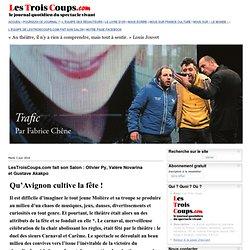 Mai 14, LesTroisCoups.com faitsonSalon: OlivierPy, ValèreNovarina etGustaveAkakpo