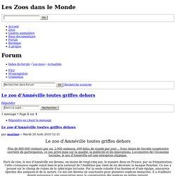 Afficher le sujet - Le zoo d'Amnéville toutes griffes dehors