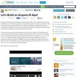 Let's Build an AngularJS App!