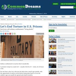 Let's End Torture in U.S. Prisons