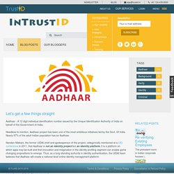 Let's get a few things straight