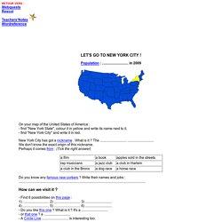 Let's go to New-York City! - A Webquest