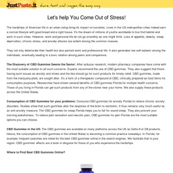 Let's help You Come Out of Stress!