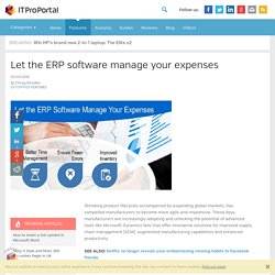 Let the ERP software manage your expenses