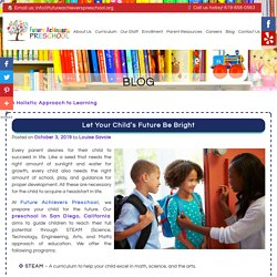 Let Your Child's Future Be Bright