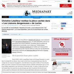 Christine Letailleur restitue la pièce cachée dans « Les Liaisons dangereuses » de Laclos