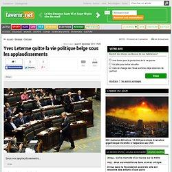 Yves Leterme quitte la vie politique belge sous les applaudissements