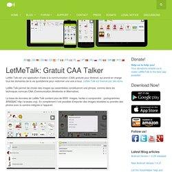 Gratuit CAA Talker App - LetMeTalk.info