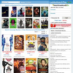 Watch Comedy Movies Online for Free on LetMeWatchThis