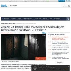 """Zdjęcie 22-letniej Polki ma związek z wideoklipem Davida Bowie do utworu """"Lazarus""""?"""