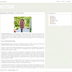 Romuald Létondot, le militant - personnalites.fr