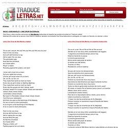 Letra One Drop de Bob Marley en español