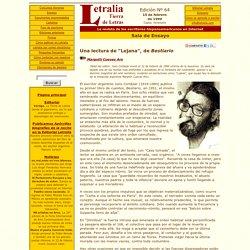 """Letralia - Sala de ensayo: """"Una lectura de 'Lejana', de Bestiario"""", Margoth Cuevas Aro"""