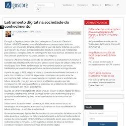 Letramento digital na sociedade do conhecimento - Algo Sobre