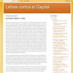 Letras contra el Capital: ASTURIES ARDE!!! ( 1998)