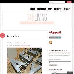 Letter Art « 346 Living
