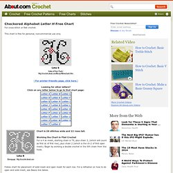 Letter H of Checkered Alphabet Free Chart For Cross-Stitch or Filet