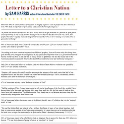 Letter To A Christian Nation: Quotes