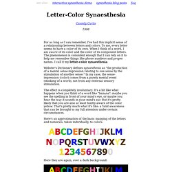 Letter-Color Synaesthesia
