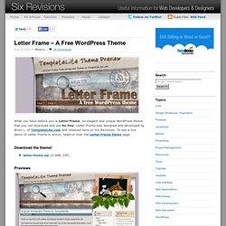 Letter Frame - A Free WordPress Theme