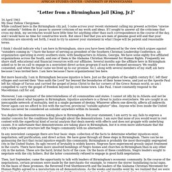 thesis of the letter from birmingham jail
