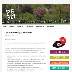 Letter from PS 321 Teachers