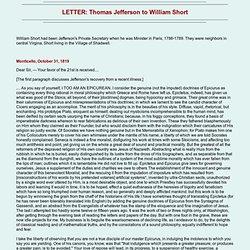 LETTER: Thomas Jefferson to William Short