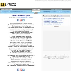 Son House Lyrics, Death Letter Blues Lyrics