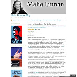 Letter to Sarah From the Netherlands « Malia Litman's Blog