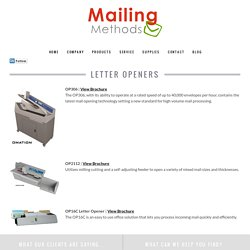 Letter Openers Products at Mailing Methods Inc