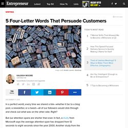 5 Four-Letter Words That Persuade Customers
