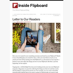 Letter to Our Readers