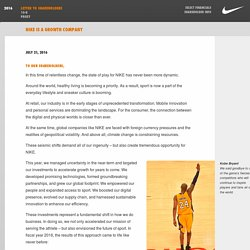 Letter to Shareholders - NIKE FY2016 Annual Report
