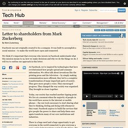 Letter to shareholders from Mark Zuckerberg
