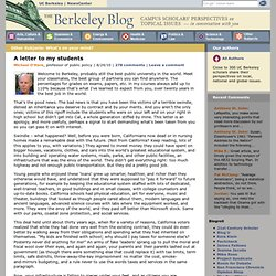 A letter to my students & The Berkeley Blog