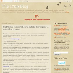 C&D letter causes UKNova to take down links to television content