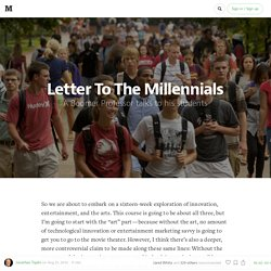 A Letter to Millennials: Don't Sleep Through the Revolution