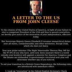 Lettre aux US