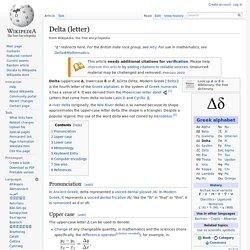 Delta (letter)