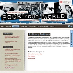 Letter Writing Lessons Plans for High School and Middle School - Rock Your World